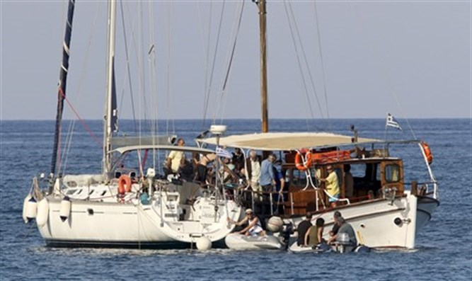 Boat in flotilla to Gaza (archive)