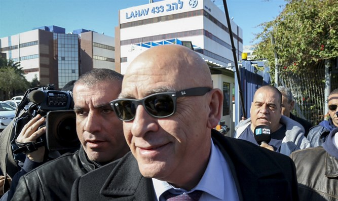 Ghattas outside police headquarters