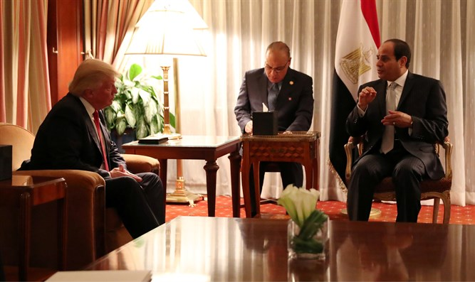 Trump and Sisi (archive)