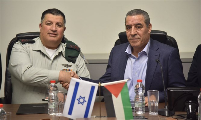 Major General Yoav Mordechai and Hussein a-Sheikh