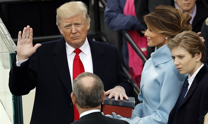 Trump takes the oath of office