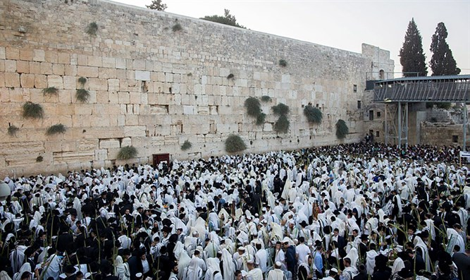 Hoshana Rabbah pray in Western Wall