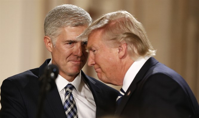 U.S. President Donald Trump and Neil Gorsuch