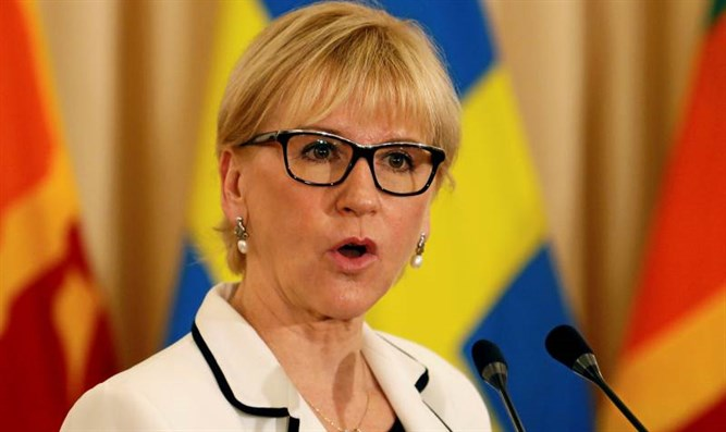 Swedish Minister to PA Arabs: We will fight with you and for you