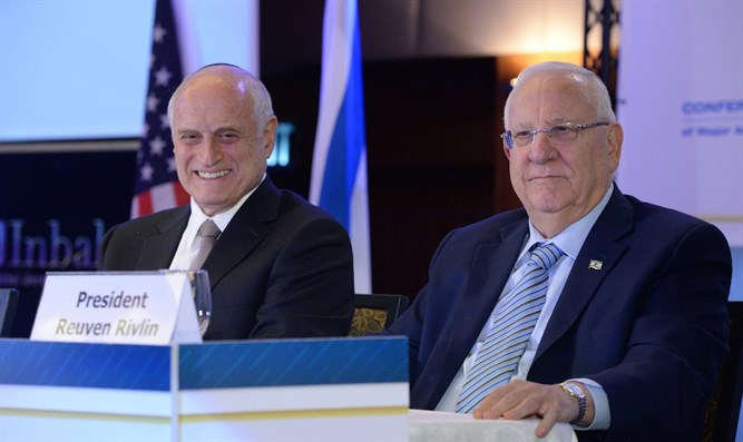 Rivlin at Conference of Presidents Israel mission