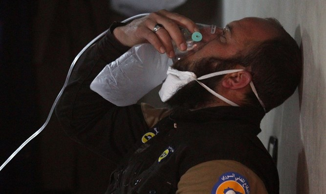 Aftermath of Idlib chemical attack