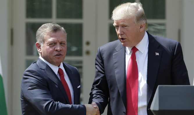 King Abdullah and Trump