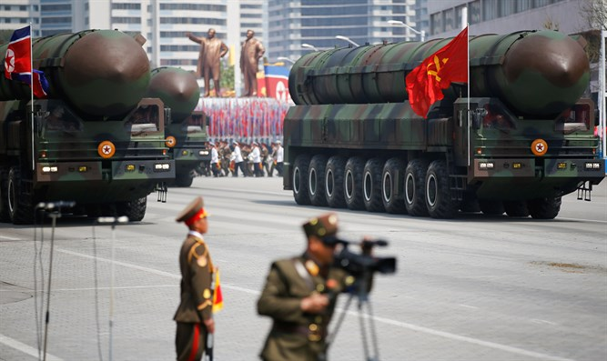 North Korea parades ICBM