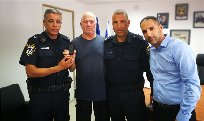At Holon Police station, this morning