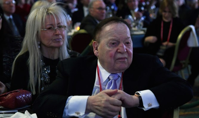 Sheldon Adelson with his wife Miriam