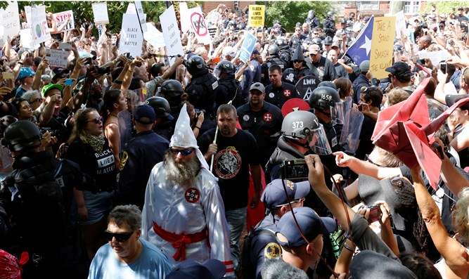 KKK march in Charlottesville