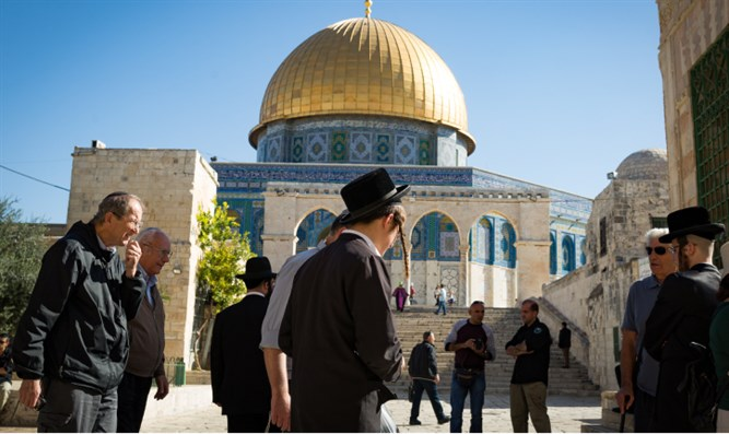Jews visit the Temple Mount