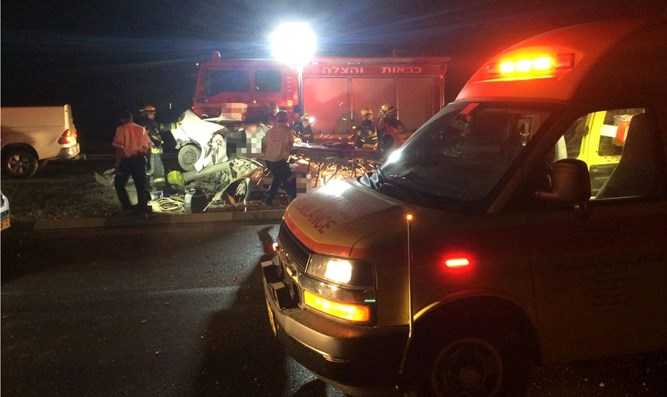 Scene of accident in Beer Sheva