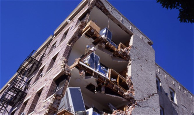 Earthquake damage (illustrative)