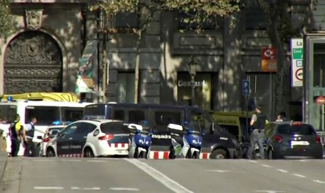 Scene of ramming attack in Barcelona