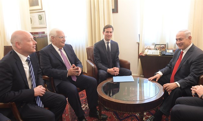 Jason Greenblatt, David Friedman, Jared Kushner, and PM Netanyahu