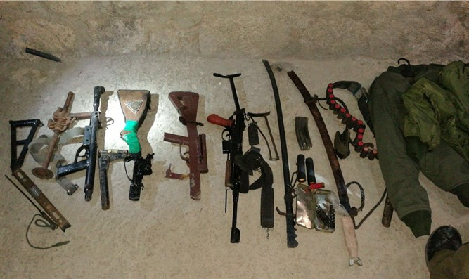 Some of the confiscated homemade  weapons