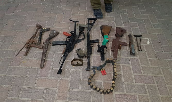 Some of the weapons found in the illegal weapons factory