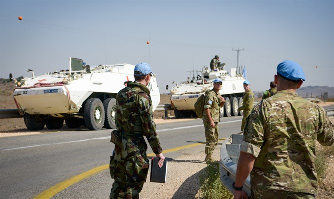 UN troops on northern border