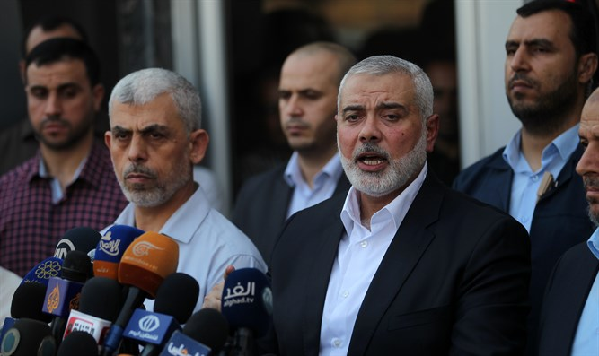 Hamas leaders in Gaza