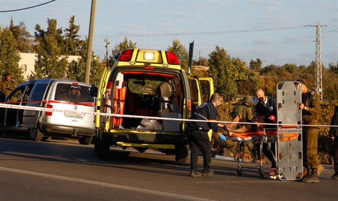 Scene of Friday's Gush Etzion ramming attack