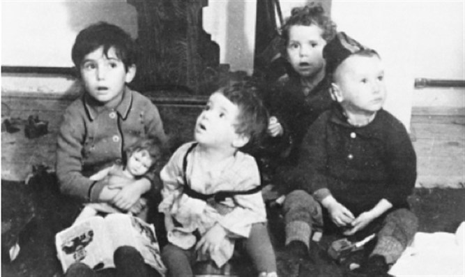 Jewish children victimized by Holocaust