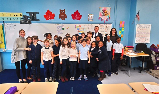 Students in Harlem's Hebrew Charter School
