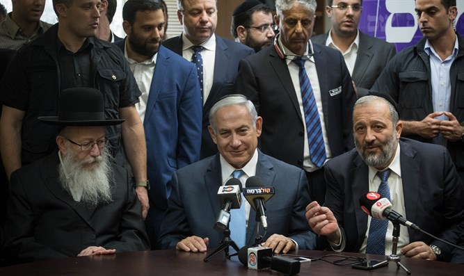 Netanyahu and the heads of the haredi parties