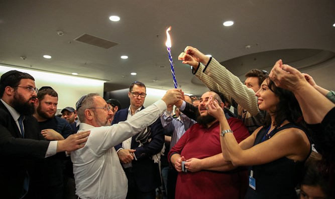 The havdala ceremony at Limmud FSU