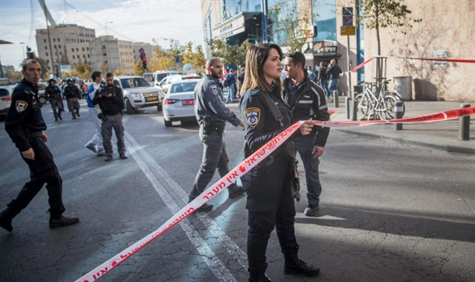 Scene of Jerusalem stabbing attack