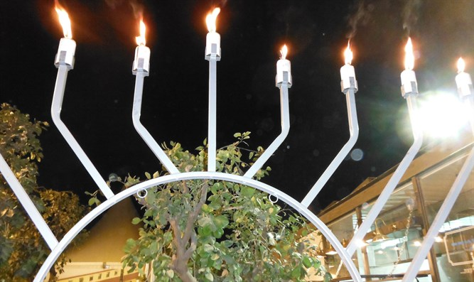 Chanukah Menorah in Jerusalem