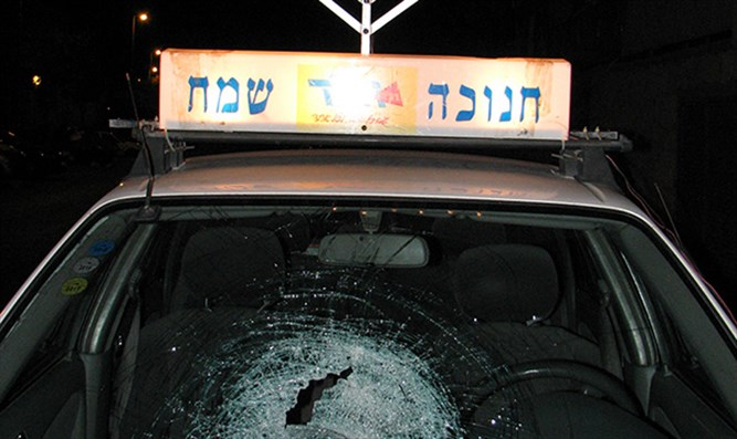 The vehicle after the attack