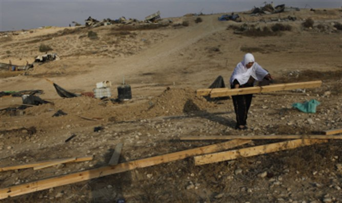 Illegal Bedouin construction