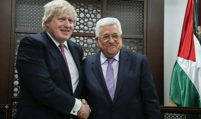 Boris Johnson with Mahmouad Abbas