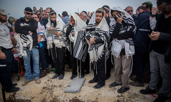 Funeral of Rabbi Raziel Shevach