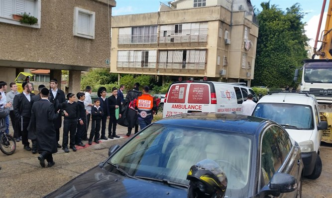 Scene of accident in Bnei Brak