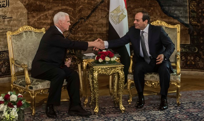 Pence and Sisi