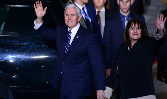 US Vice President Mike Pence and his wife Karen