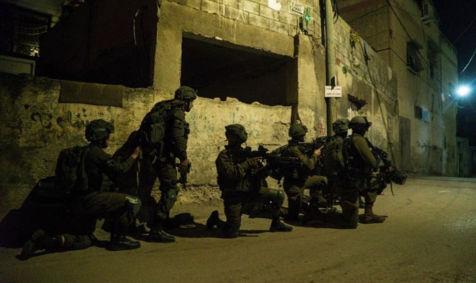 IDF forces during activity last night