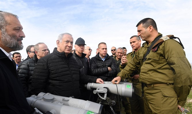 Netanyahu and the Cabinet meet IDF officers