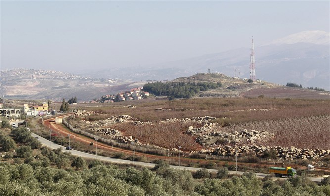 View of Lebanese-Israeli border from Kfar Kila, southern Lebanon