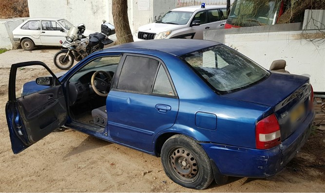 Car in which Bedouins attempted escape