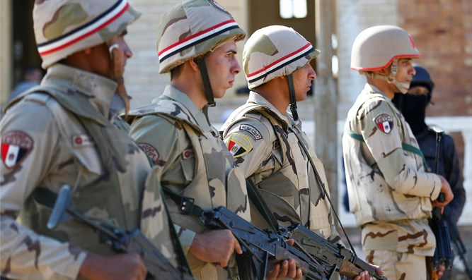 Egyptian army in Sinai