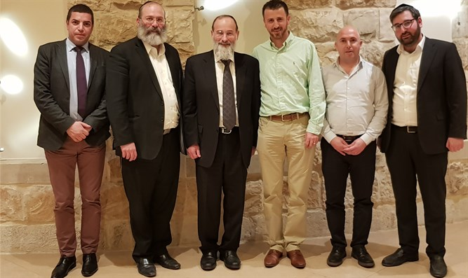 From left to right: Mansour, Rozenstein, Hofstedter, Afifi, Moslmani, Berlin