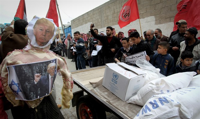 Trump effigy in Khan Yunis, Gaza