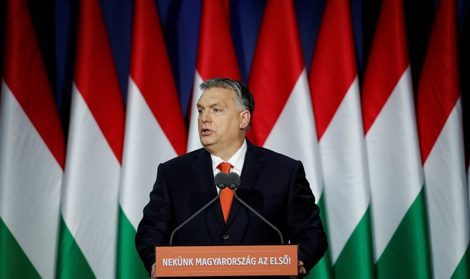 Orban delivering State of the Union Address