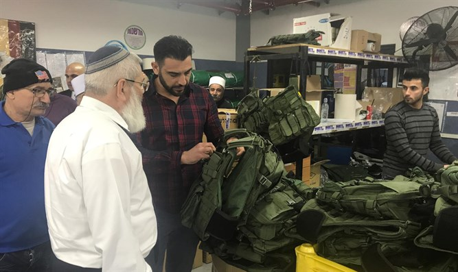 Rabbi Eli Ben Dahan tours the Makat Textile factory