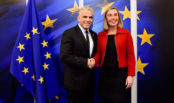 Lapid with Mogherini