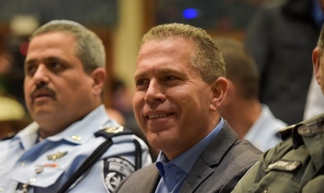 Internal Security Minister Gilad Erdan and Chief of Police Roni Alsheikh