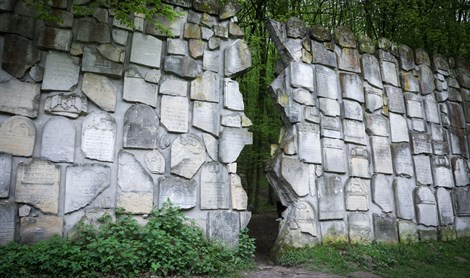 Memorial to Jewish victims of Holocaust in Polish town of Kazimierz Dolny